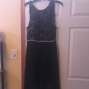 Black and Tan party dress size 9